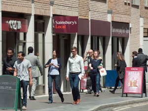 Sainsbury's and Costa – London